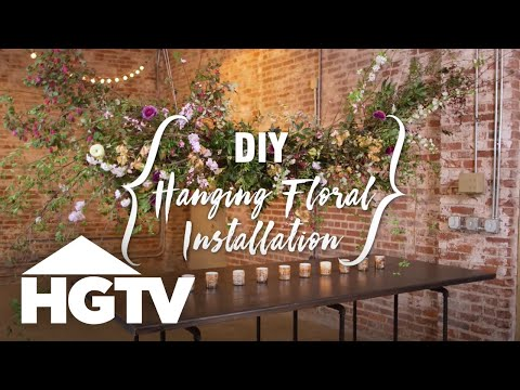 DIY Hanging Floral Installation for a Wedding - HGTV