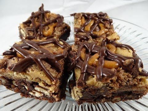 Fudgy & Crunchy Peanut Butter Pretzel Brownies
