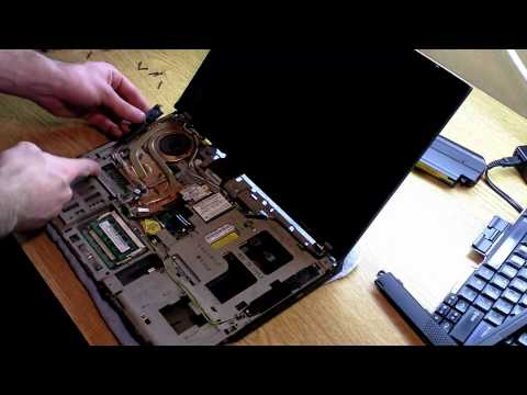 Tutorial: How to replace Thinkpad T61 CPU Fan HSF, Fix Fan Error, Cool down CPU! 1080P