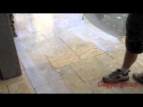 How to clean and seal travertine, granite and natural stone pavers