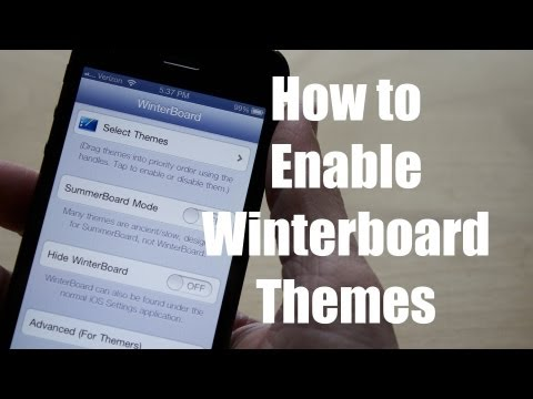 How to Enable Winterboard Themes