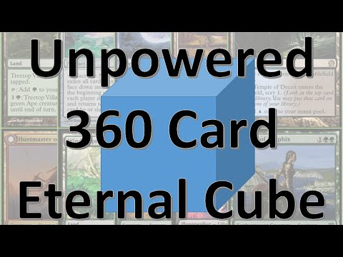 MTG Unpowered 360 Card Eternal Cube