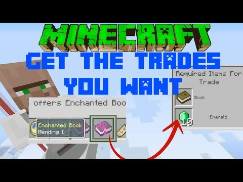 Minecraft How To Get The TRADES YOU WANT Xbox One Ps4 PC Wii PE Switch Xbox 360 Ps3