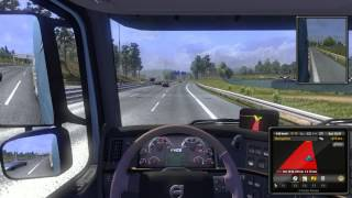 Euro Truck simulator 2 fast and furious crazy 152 kph driving  gtx 670 full HD