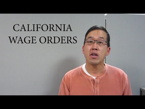 California Wage Orders - The Law Offices of Andy I. Chen