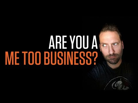 ARE YOU A ME TOO BUSINESS? DIGITAL MARKETING AGENCY | Creative Agency Advice | SwenkToday #109
