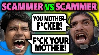 ANGRY INDIAN SCAMMERS SWEAR AT EACH OTHER | Scammer vs. Scammer (Prank Call) - House of Pranksters