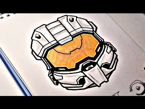 How To Draw HALO Master Chief