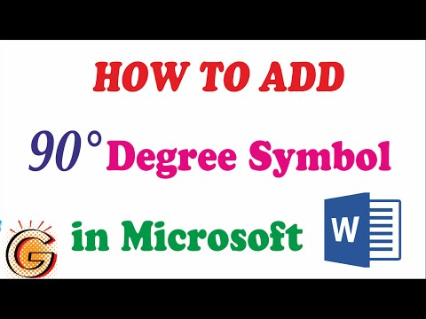 How to add Degree symbol in Word