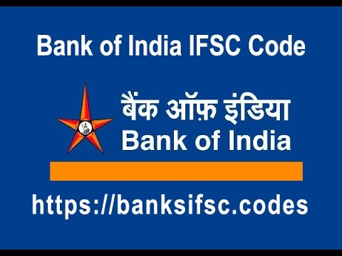 Bank of India IFSC Code