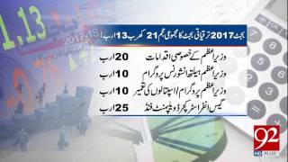 Highlights of Pakistan Budget 2017-18 26-05-2017 - 92NewsHDPlus