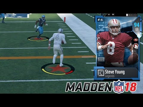 STEVE YOUNG GAMEPLAY! COMEBACK WIN??! |  MADDEN 18 ULTIMATE TEAM
