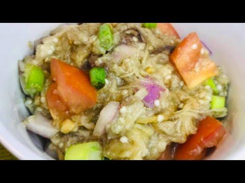 EGGPLANT SALAD With BAGOONG FISH / ENSALADANG TALONG W/ BAGOONG NA ISDA recipe