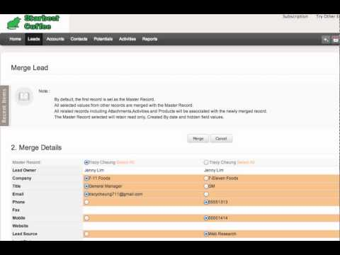ZOHO CRM: Find and Merge Duplicate Records