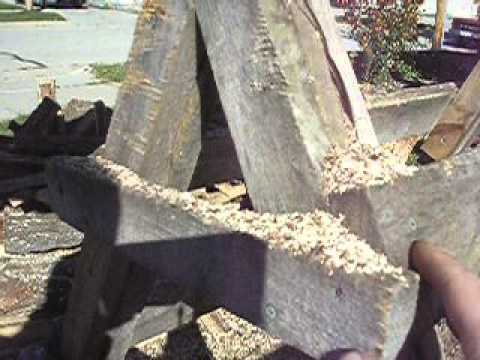 diy firewood sawhorse - how to build a firewood sawhorse