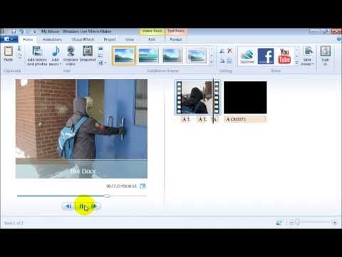 Module #5 - Adding Captions and Credits to a Video Using Windows Live Movie Maker