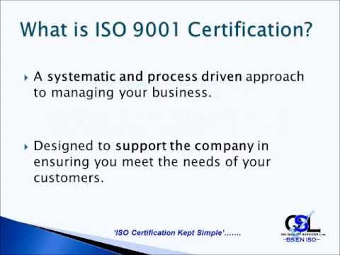 ISO 9001: What is ISO 9001 Certification.wmv