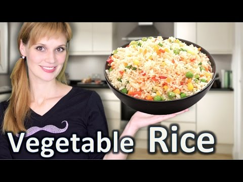 Vegetable Rice Recipe - How to Make Rice with Vegetables Easy Recipe