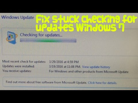 How to fix Windows 7 stuck on checking for updates
