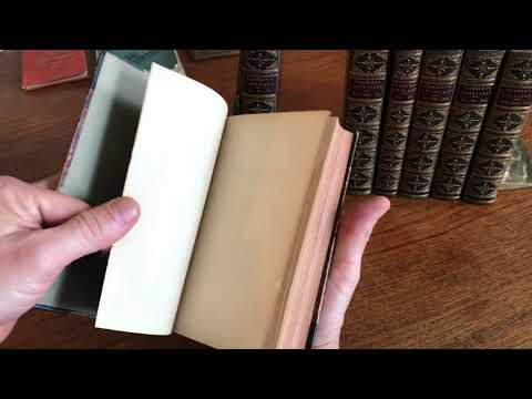 Chambers Miscellany 1845 fine set of 7 old leather bound books illustrated