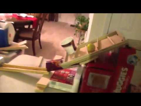 My Rube Goldberg Machine Made Out Of Household Items