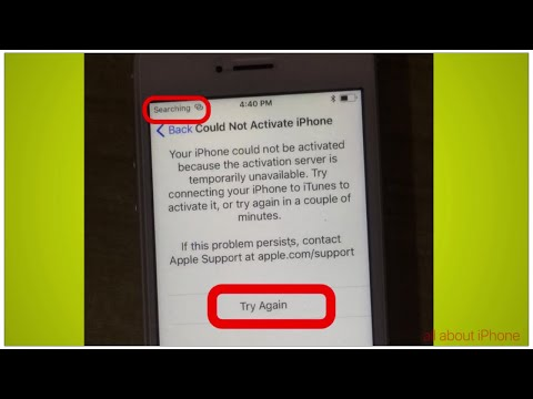 my iphone activation server is temporarily unavailable