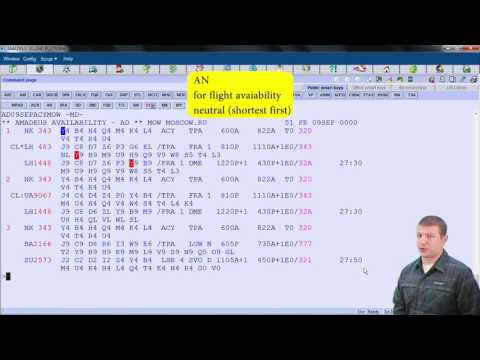 Amadeus Training Scenario: Book Flight Itinerary, Create PNR, Price Fare
