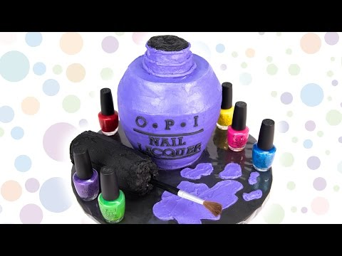 OPI Nail Polish Bottle Cake from Cookies Cupcakes and Cardio