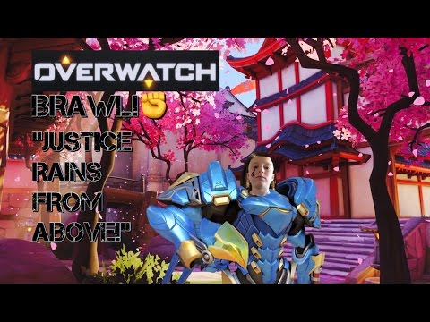 JUSTICE RAINS FROM ABOVE!|Overwatch Brawl #1