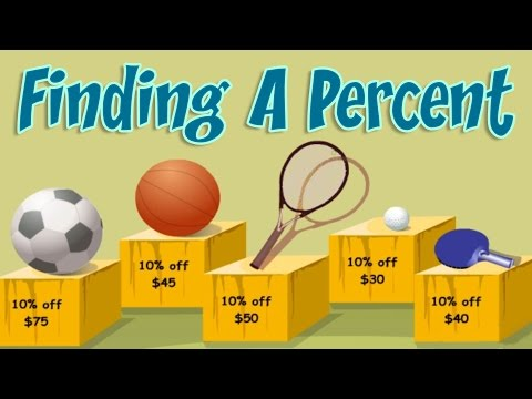 Percent of a Number, How to Find, Examples & Practice, Interesting Math Lesson For Children