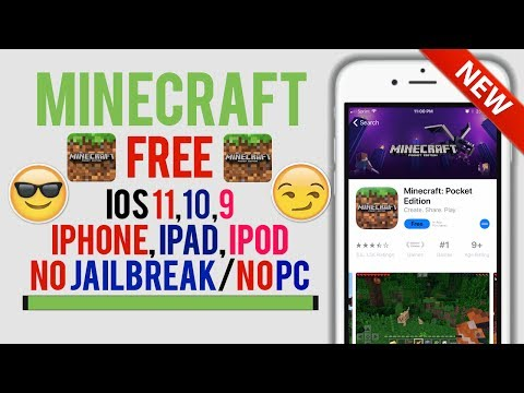 Play Minecraft PE FREE On iOS 11,10,9! NO Jailbreak/NO PC