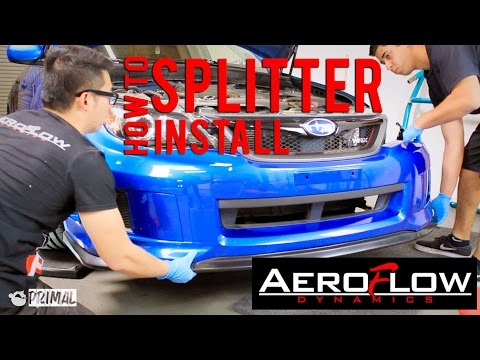 How to Install Subaru Front Splitter from AeroFlowDynamics