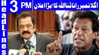 Rana Sanaullah on Government