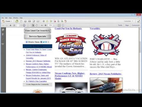 Adobe Acrobat XI Tutorial | Converting Email To PDF With Microsoft Outlook