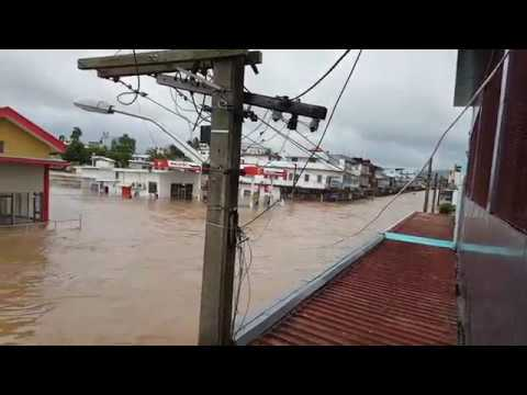 Flooding in Ba Town Fiji at 5.00pm (01-Apr-2018)
