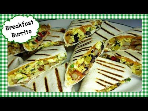 How To Make Breakfast Burritos ~ Best Breakfast Wrap Burrito Recipe