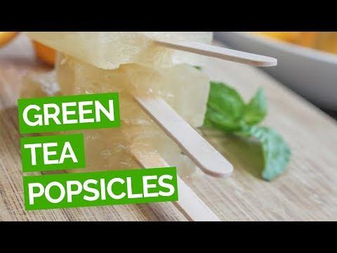 Green Tea & Lemon Popsicles Recipe