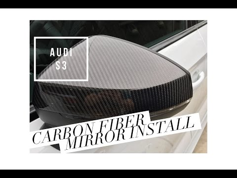 2017 Audi S3 Carbon Fiber Mirror Cover Install