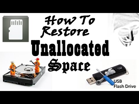 How To Fix Unallocated Drive Space ( Pen Drive / Sd Card / Hard Drive )