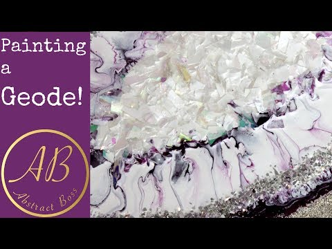 Painting a Geode with ACRYLIC paints!