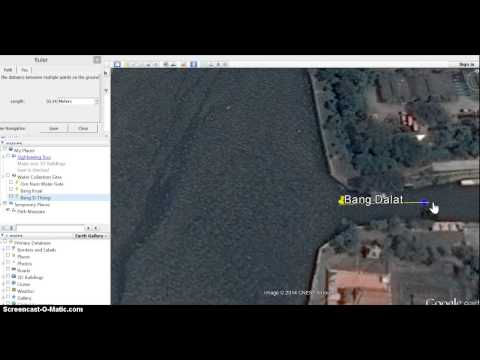 How to draw a quadrat on google earth