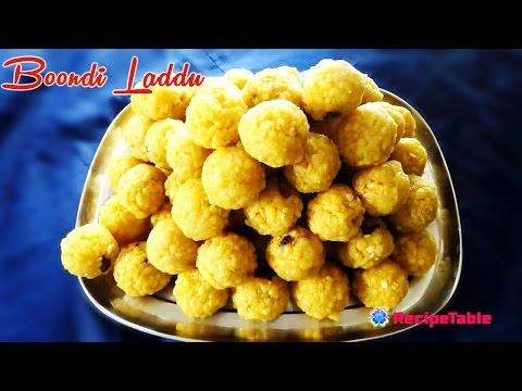 Boondi Laddu gramflour Sweet Balls Preparation in Telugu(ఈజీగా బూంది లడ్డు తయారుచేయుట)