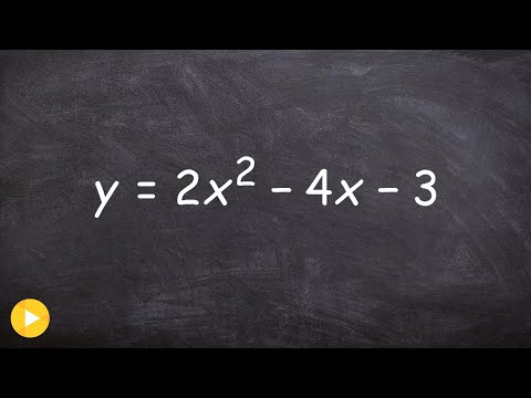 Transfer an equation from standard form to vertex form