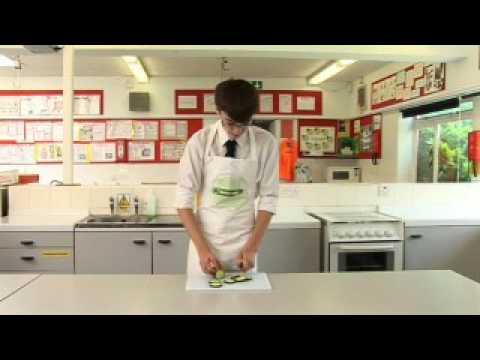Using knife (claw grip)