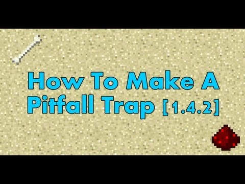 Minecraft: Successful Pitfall Trap - Redstone Tutorials 1.7.4