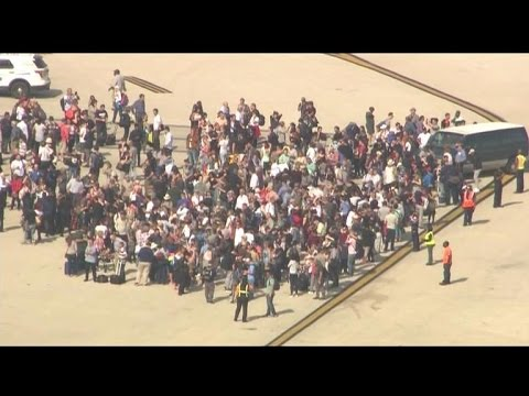 Aerial view of Ft. Lauderdale airport after deadly shooting