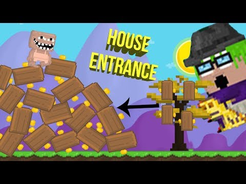 growtopia | how to make house entrance