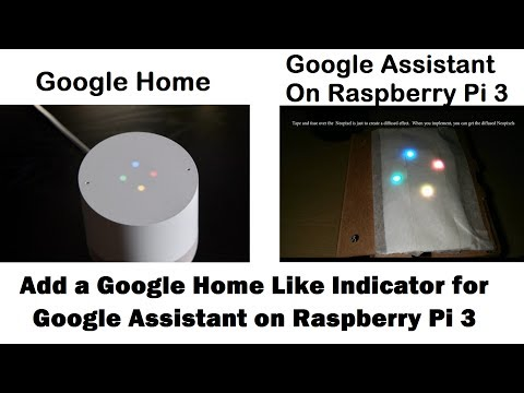 Add A Google Home Like Neopixel Indicator for Google Assistant on Raspberry Pi