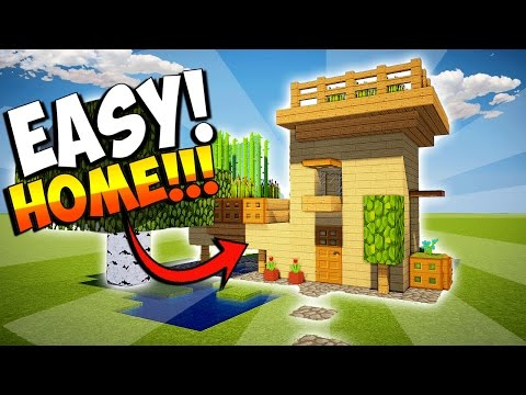MINECRAFT: HOW TO MAKE A SMALL HOUSE WITH FARM - EASY TUTORIAL