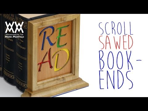 Scroll sawed bookends